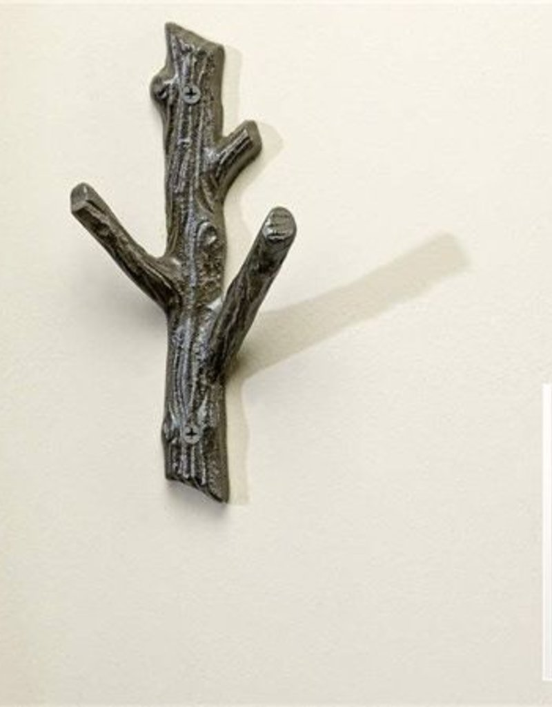 Cast Iron Branch Wall Hook - Small