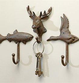 Wall Hook - Cast Iron Fish, Deer, Bird