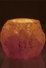 Rock Salt Candle Holder-Natural
