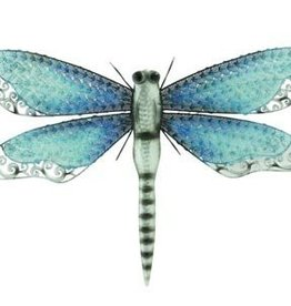 Iridescent Metal Wall Dragonfly