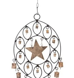 Iron Star Windchime with Bells