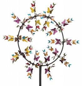 32 Inch Vortex Kinetic Stake - Butterflies