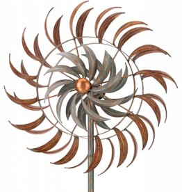 """24"""" Rotating Kinetic Stake - Copper Petals"""