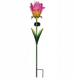 Solar Ruffled Tulip Stake - Pink