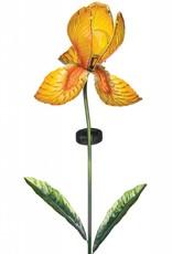 Solar Iris Stake - Yellow