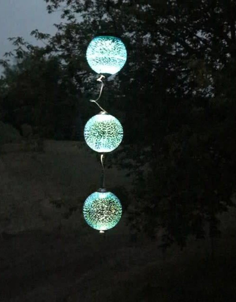 Stargazing Blue Solar Orbs