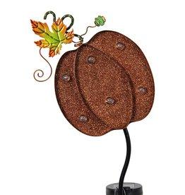 Solar Pumpkin Marquee Garden Stake