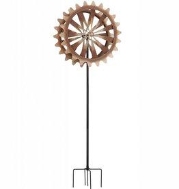 Kinetic Stake - Rustic Wheel