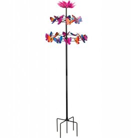 Vertical Kinetic Stake - Butterfly Dance