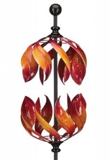 Vertical Kinetic Stake - Double Flame