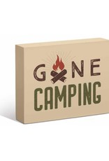"Gone Camping 7"" x 9"" Box Art Sign"