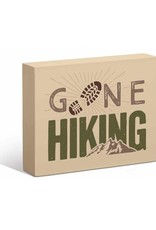 "Gone Hiking 7"" x 9"" Box Art Sign"
