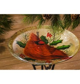 Bird Bath - Cardinal