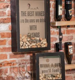 Wood and Glass Wine Cork Holder - Best Wines