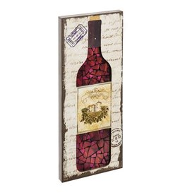 Mosaic - Wood and Glass LED Wine Bottle