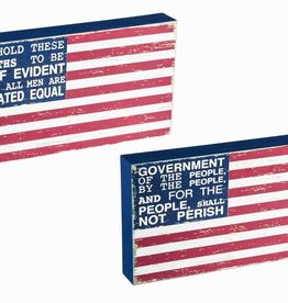 Box Sign - American Flag