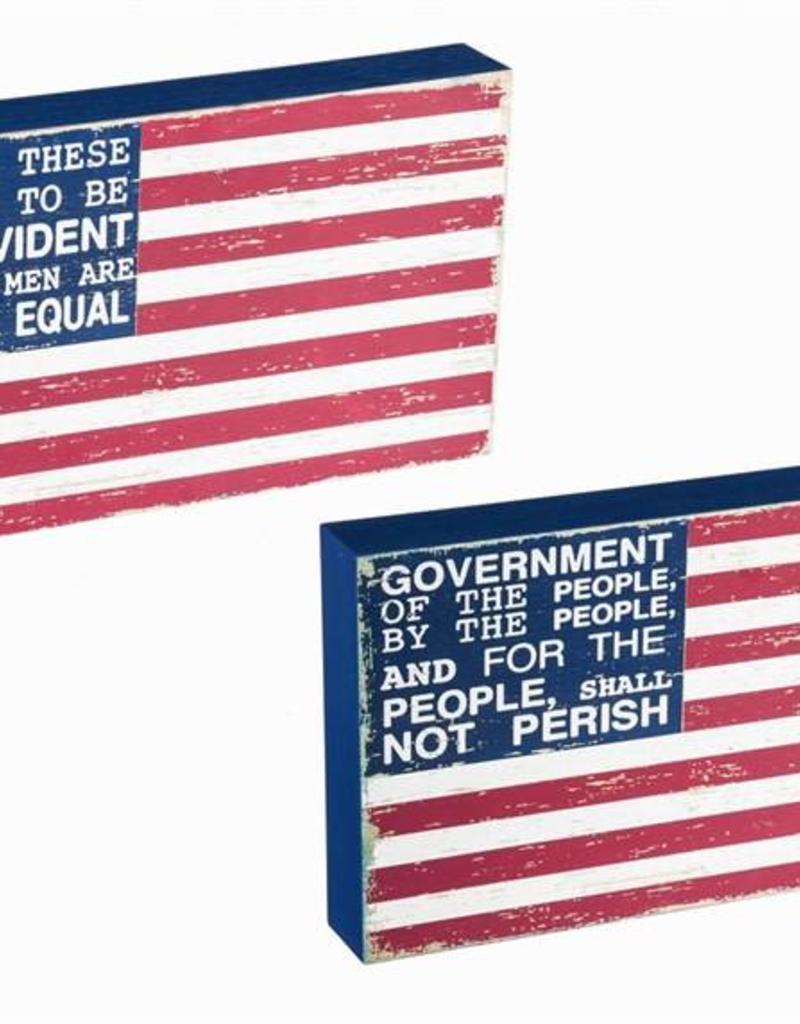 Box Sign - American Flag