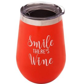 Wine Tumbler - Smile There's Wine