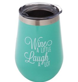 Wine Tumbler - Wine a Little, Laugh a Lot