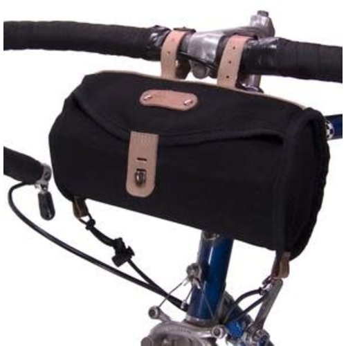 Banjo Brothers Banjo Brothers Minnehaha Canvas Barrel Saddle Bag: Black