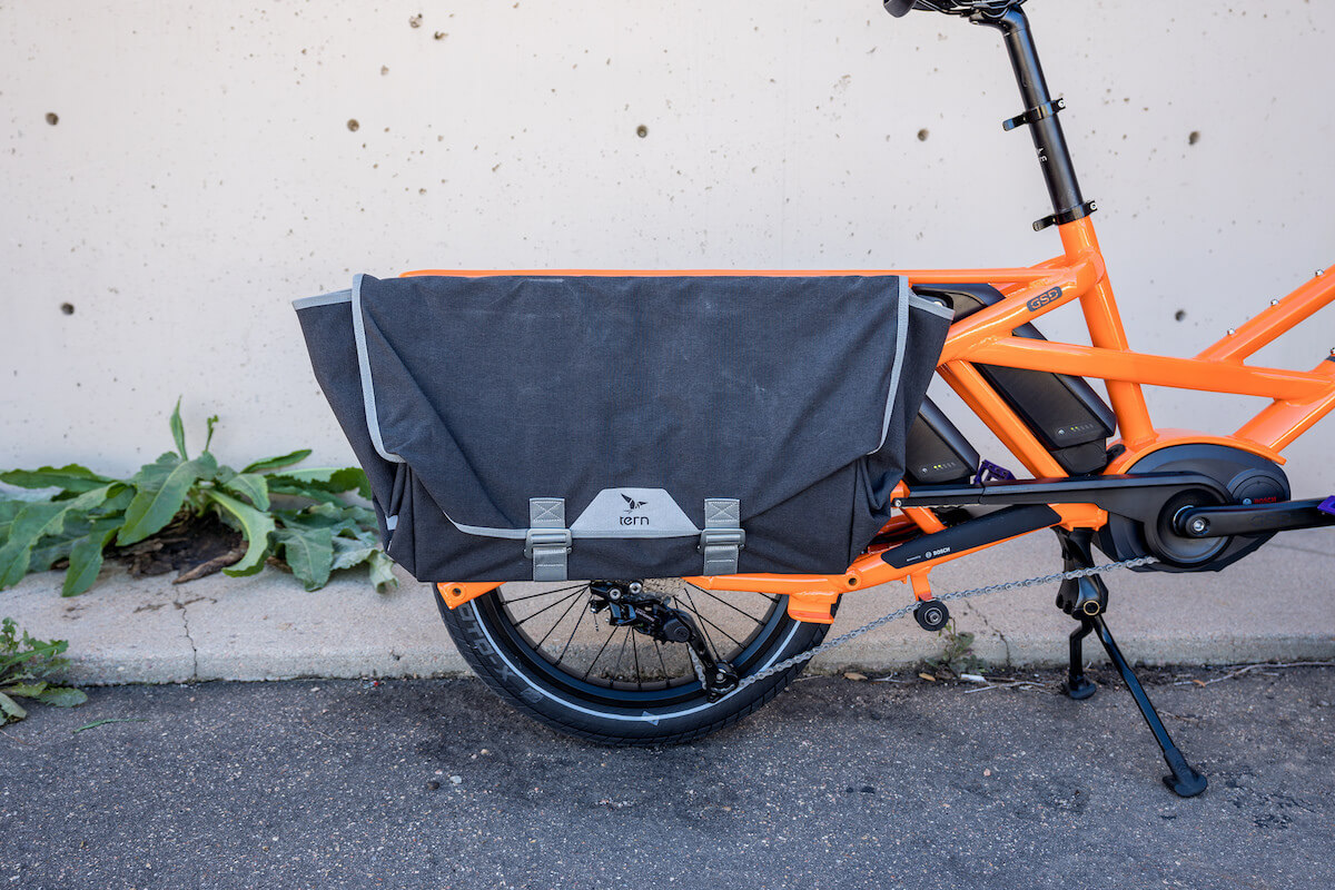 Tern Gsd Electric Cargo Bike Review Shop Girl Family Cyclery Auto Electronic Computer Motorcycle Wire Harness Or Connector Ly Hold Panniers