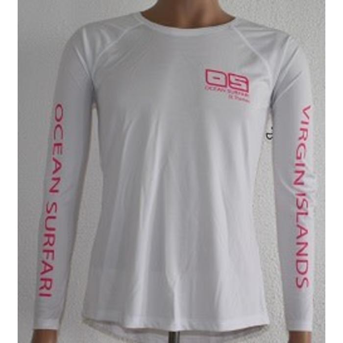 Vapor Ladies Dry-Fit LS White