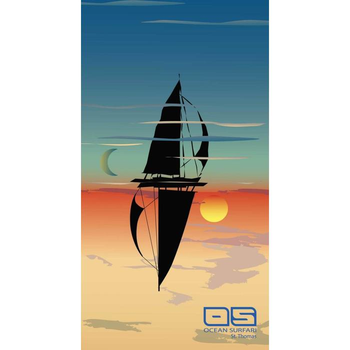 Ocean Surfari Beach Towel Sail