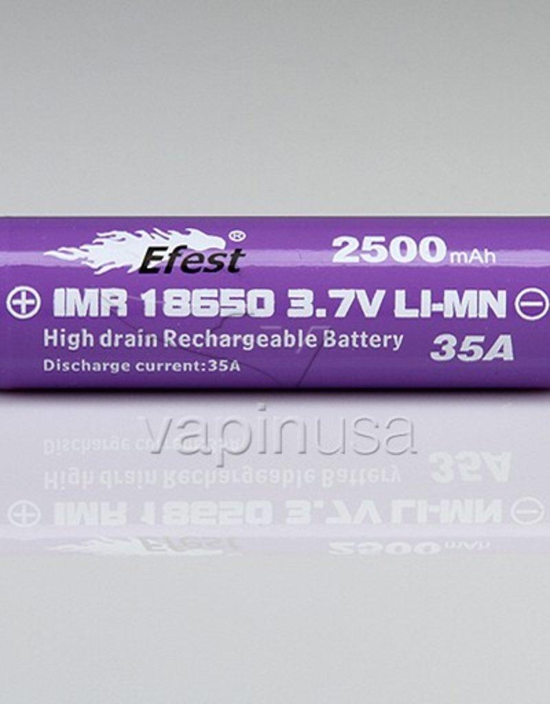 Efest Battery | 18650, 2500mAh, 35A | Button Top