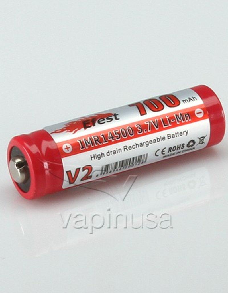 Efest Battery | 14500, 700mAh, 3.7v | Button Top