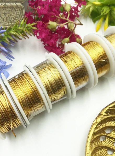 CRAFT WIRE 22GA ROUND 8YD NON TARNISH GOLD