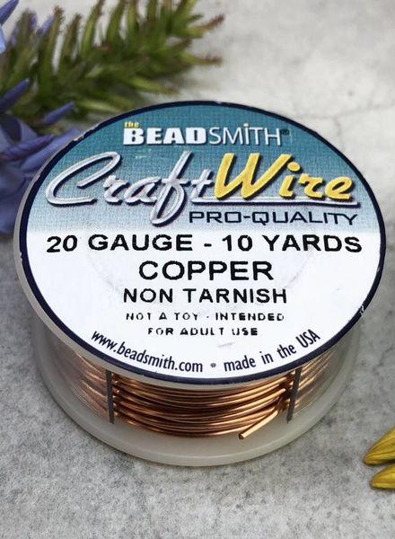 CRAFT WIRE 20GA ROUND 10YD NATURAL COPPER