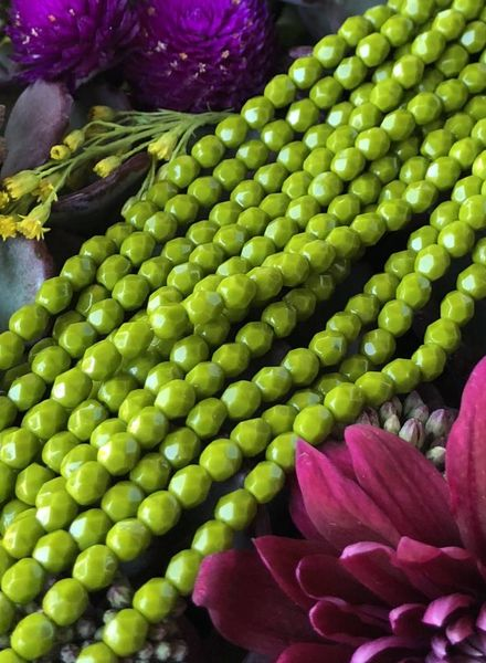 Firepolish 4mm : Opaque Olive