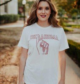 Opolis Oklahoma Hand T-Shirt