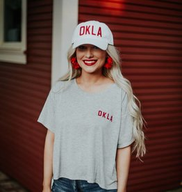 White With Red OKLA Hat