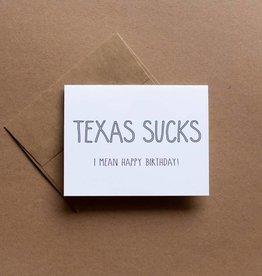 Texas Sucks Card