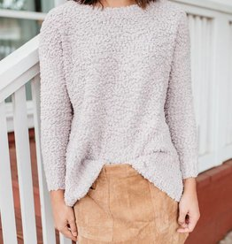 Pale Rose Fuzzy Sweater