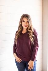 Plum V-Neck Sweater