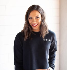 OKLA Cropped Sweatshirt Black