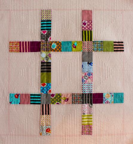 hashtag mini quilt