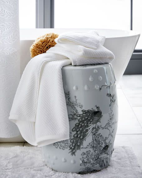 Barroco Bath Rug 24x39 White by Graccioza