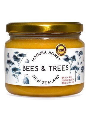 BEES AND TREES Bees & Trees Manuka Honey 320+ MGO, 13.4oz.
