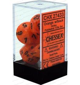 Chessex Vortex: 7pc 16mm Orange/Black