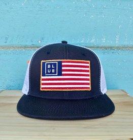 USA Flag Flat Bill Hat