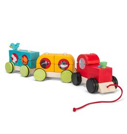 Le Toy Van Woodland Express Stacking Train