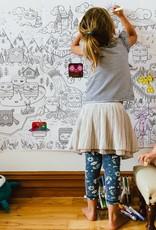Atelier Rue Tabage Le monde de Velvet - Coloriage géant