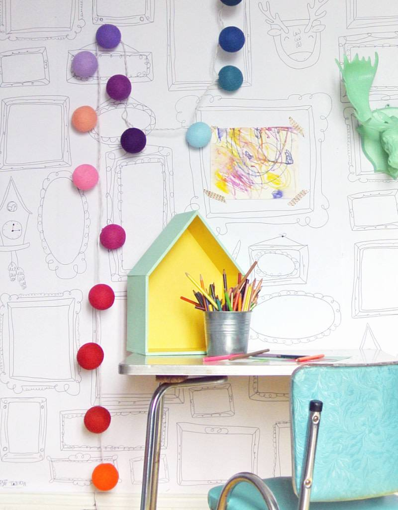 FRAMES WALL XXL - Giant coloring - Veille sur toi