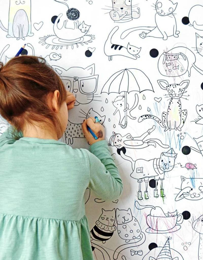 Atelier Rue Tabage Cats- Giant coloring