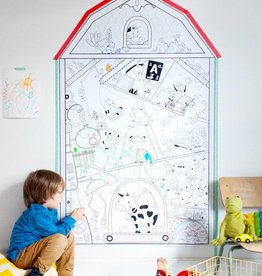 Atelier Rue Tabage My little house farm - Giant coloring