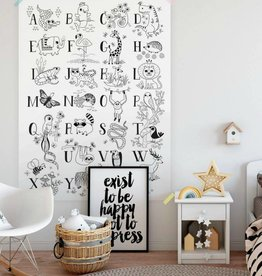 Atelier Rue Tabage Illustrated alphabet - Giant coloring