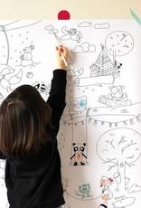 Atelier Rue Tabage Forêt Veille sur toi - Coloriage géant